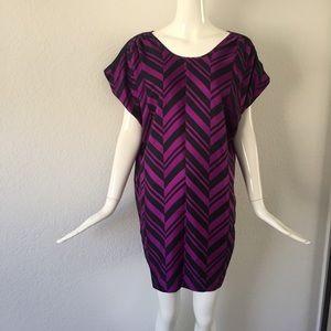 Madison Marcus purple black printed dress
